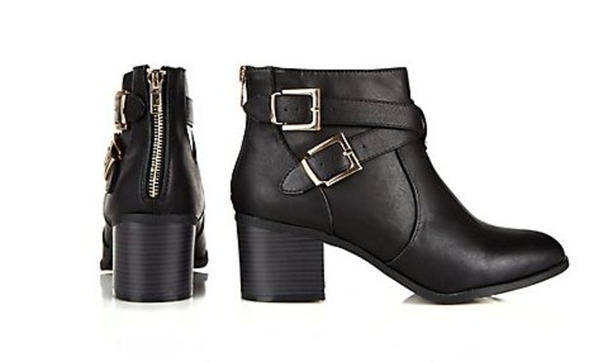 block heel ankle boots with zip back fastening can be dressed up or down