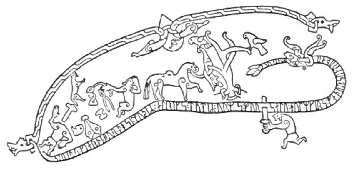 The Rune serpent, bringer of vengeance on Skuld