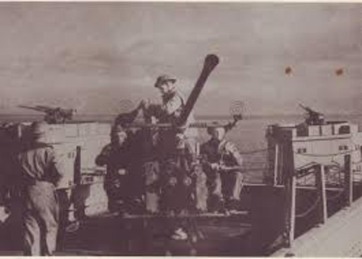 Bofors anti aircraft guns mounted on various forts