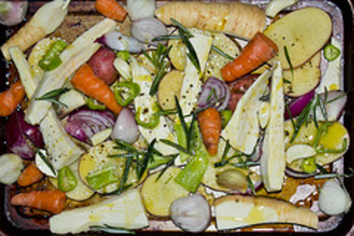 Roasted veg for a traditional meal