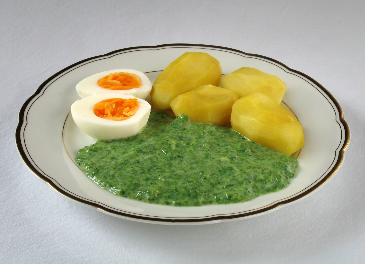 nettle leaves may be made into a puree and served as part of a meal.
