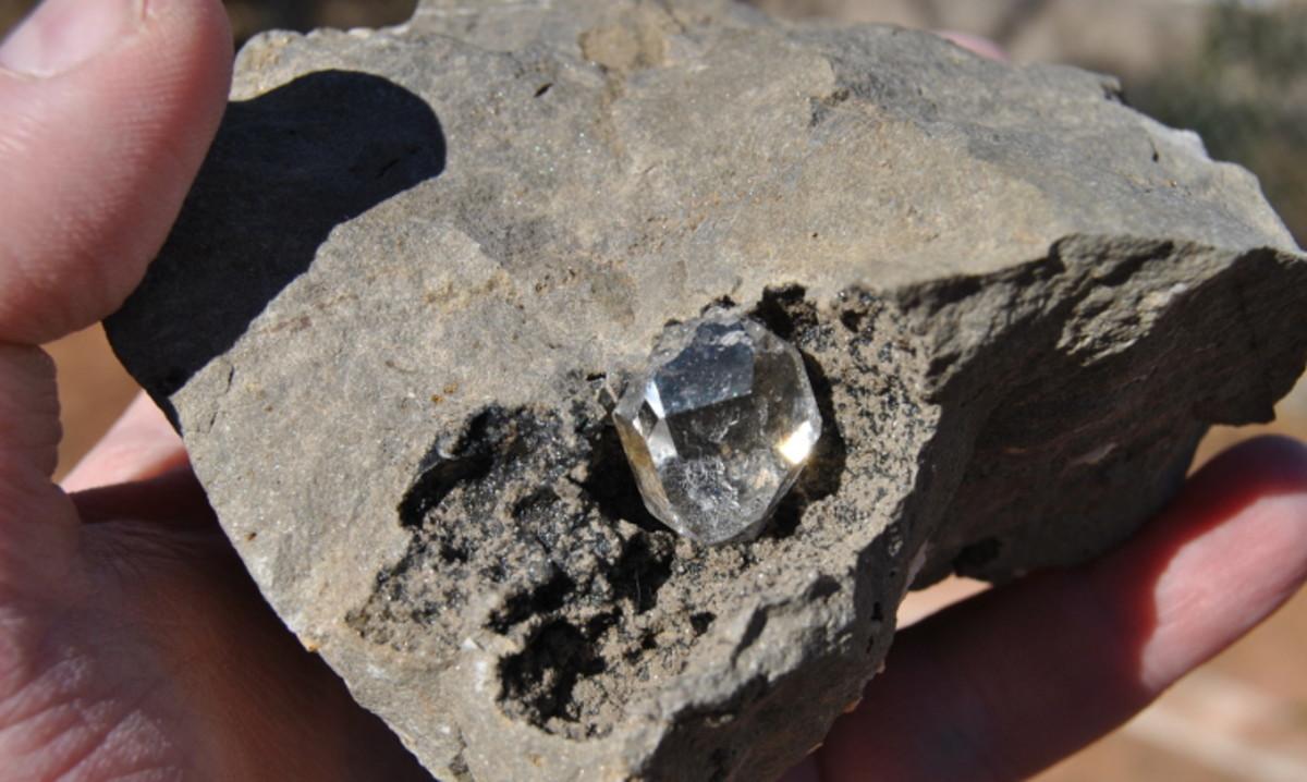 Herkimer Diamond in Dolomite Limestone