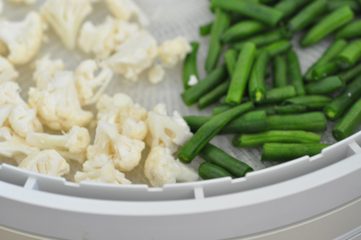 Cauliflower and French beans -before drying Image: © Siu Ling Hui