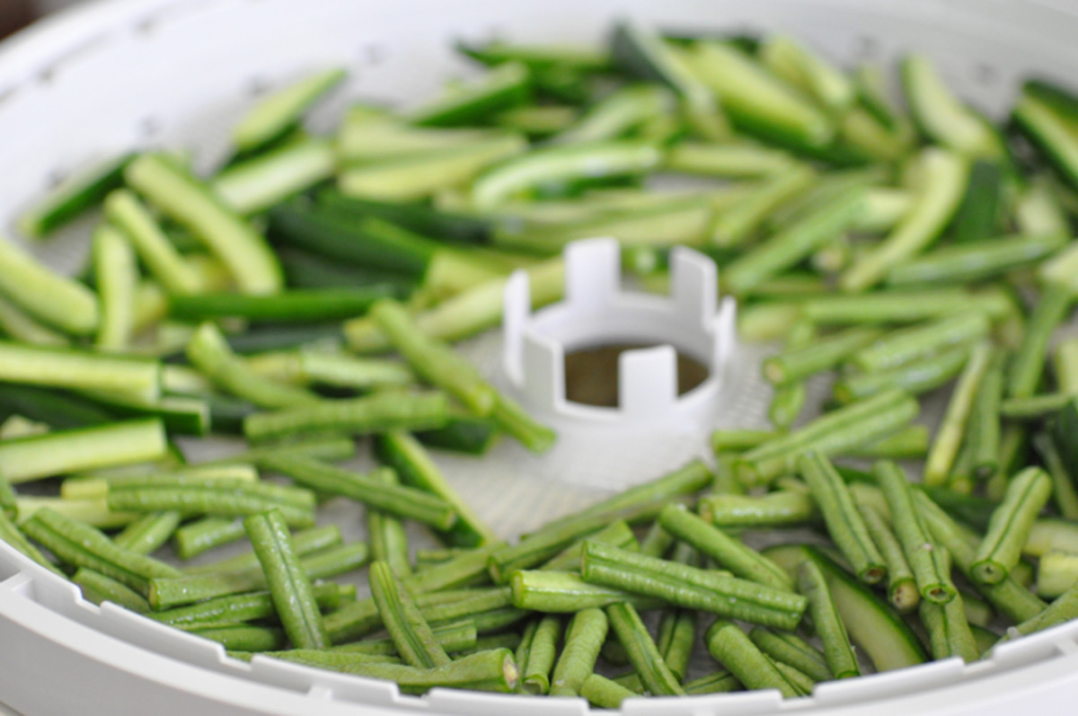 Snake beans and cucumbers before drying Image: © Siu Ling Hui