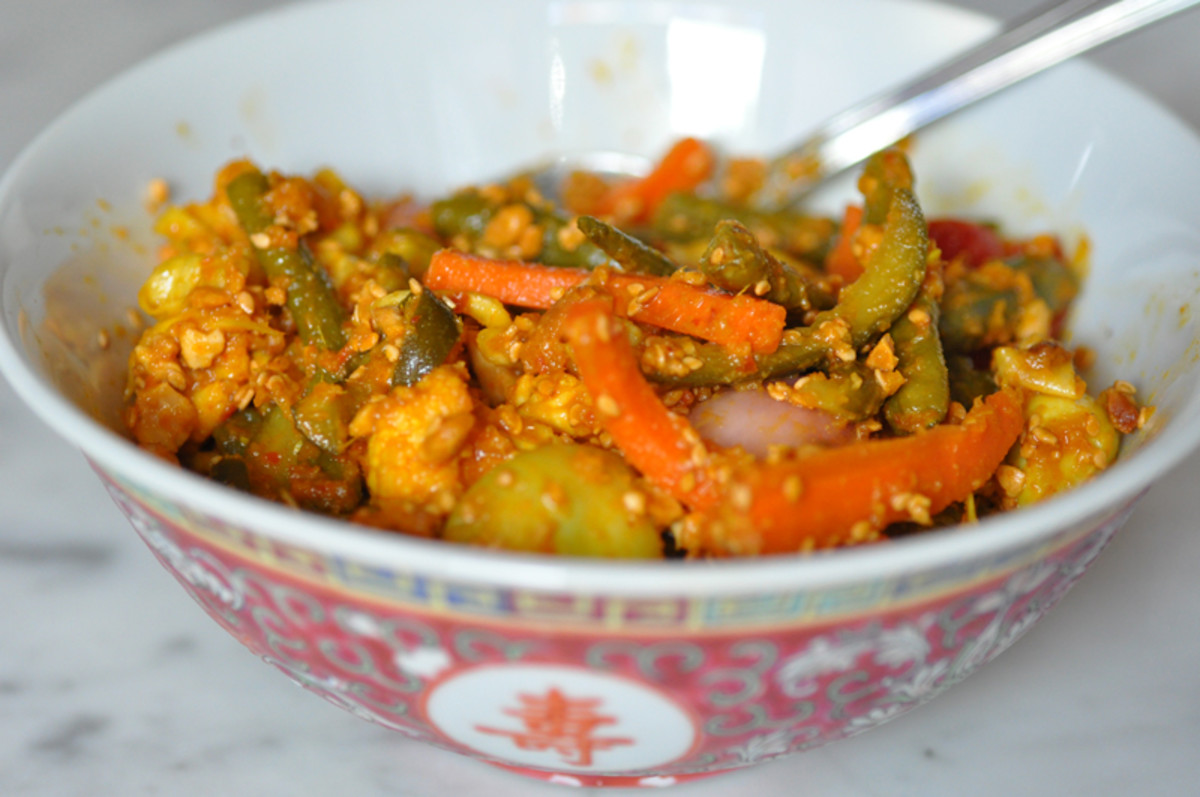 Acar Awak, Penang Nonya Mixed Vegetable Pickle Image: © Siu Ling Hui