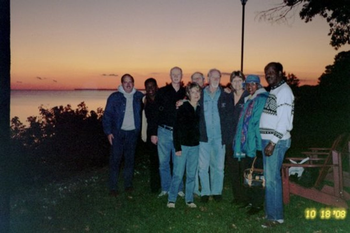 The author (far left) with friends and bretheren at the Feast of Tabernacles in 2008 in Leamington, Ontario Canada.