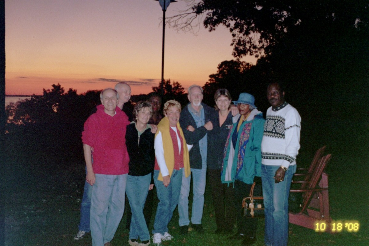 Friends at the Feast of Tabernacles in 2008. My special friend Lil is third from left in front.