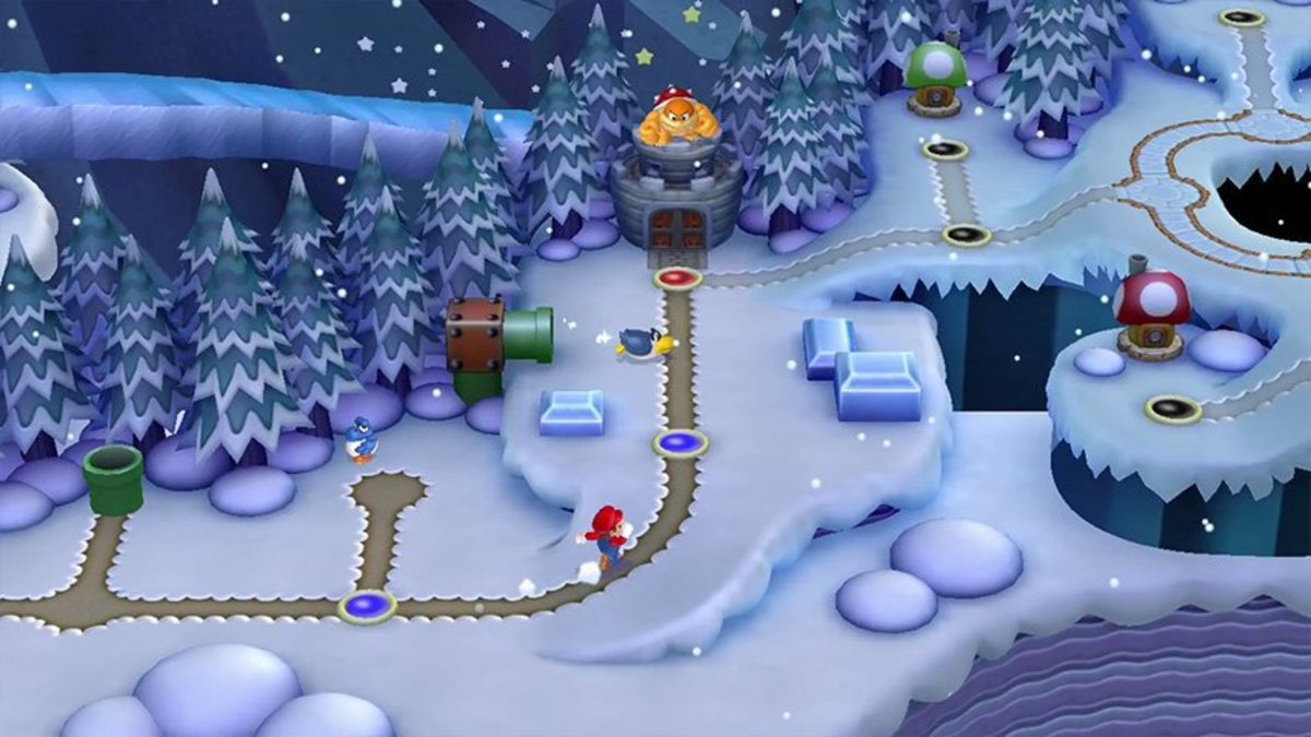 How to find the Star Coins of Frosted Glacier in New Super Mario Bros. U