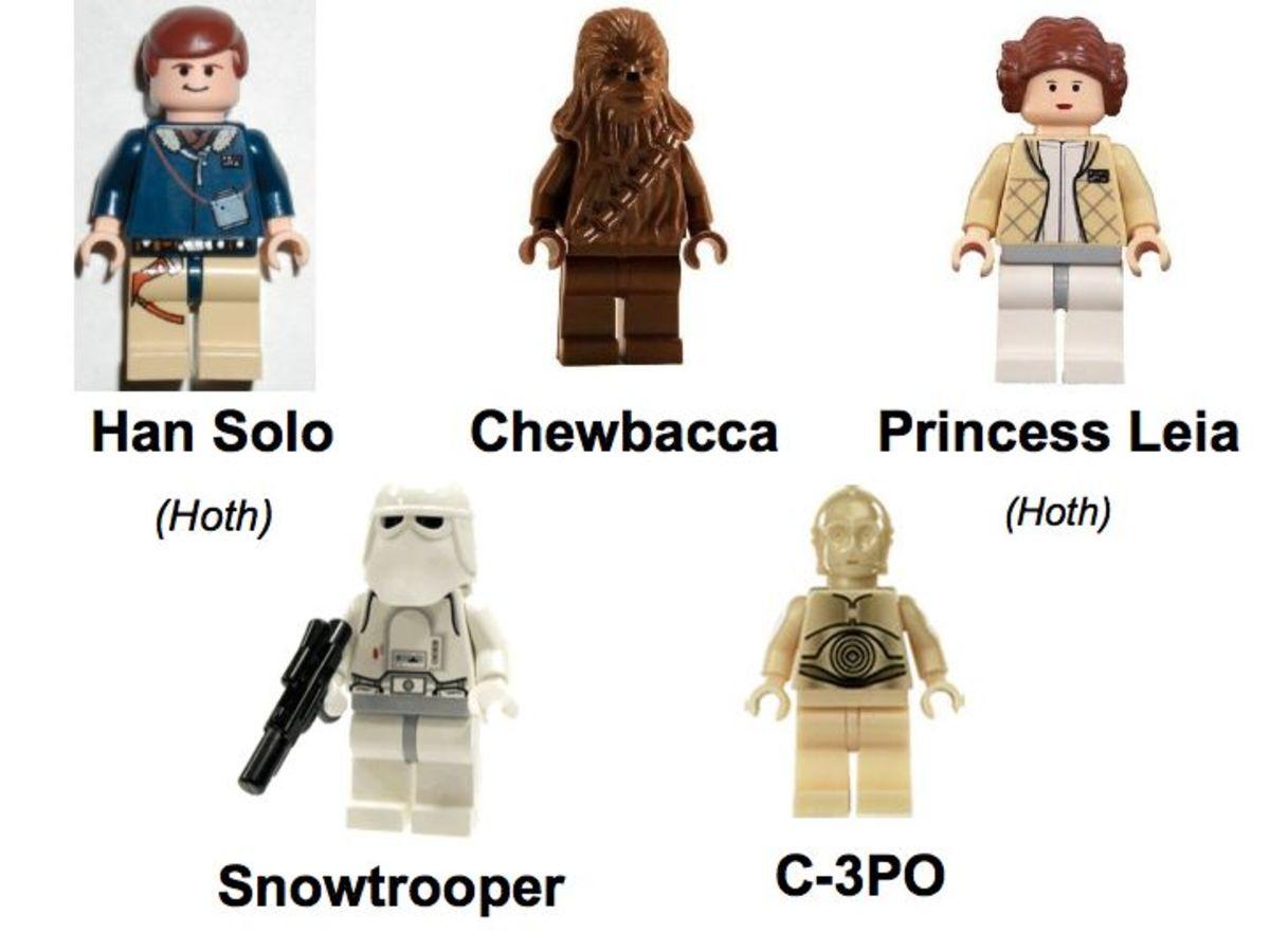 LEGO Star Wars Millennium Falcon 4504 Minifigures