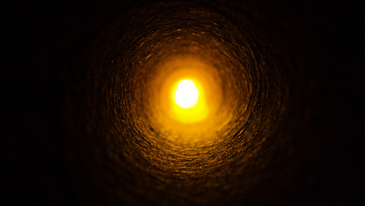 People often describe a tunnel and light experience when they have an near death experience, an out of body experience, or a spiritual awakening experience while in deep meditation.