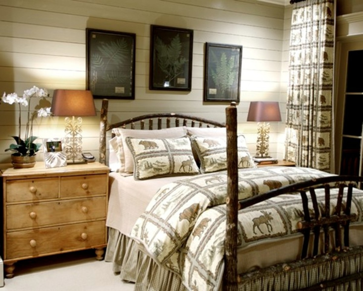Rustic Style Bedroom Design for Men