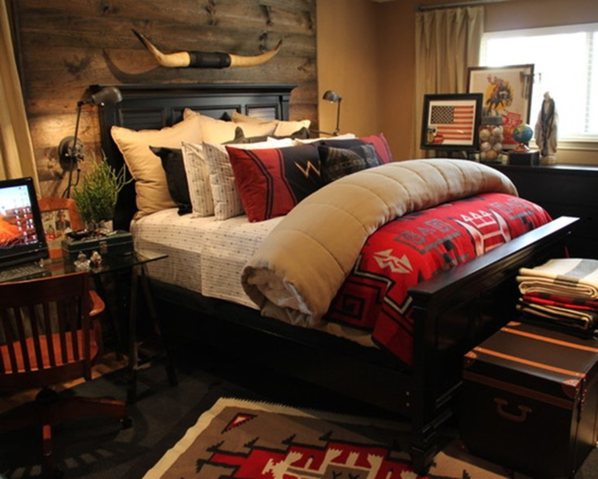 Modern Bedroom Design with Rustic Feel