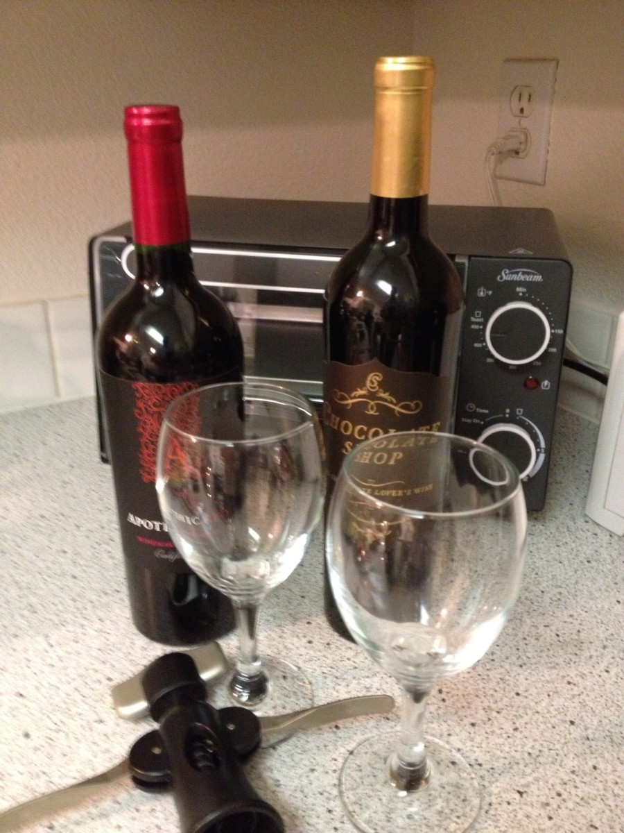 Apothic Red - a nice NW wine that was just right for our purposes tonight.