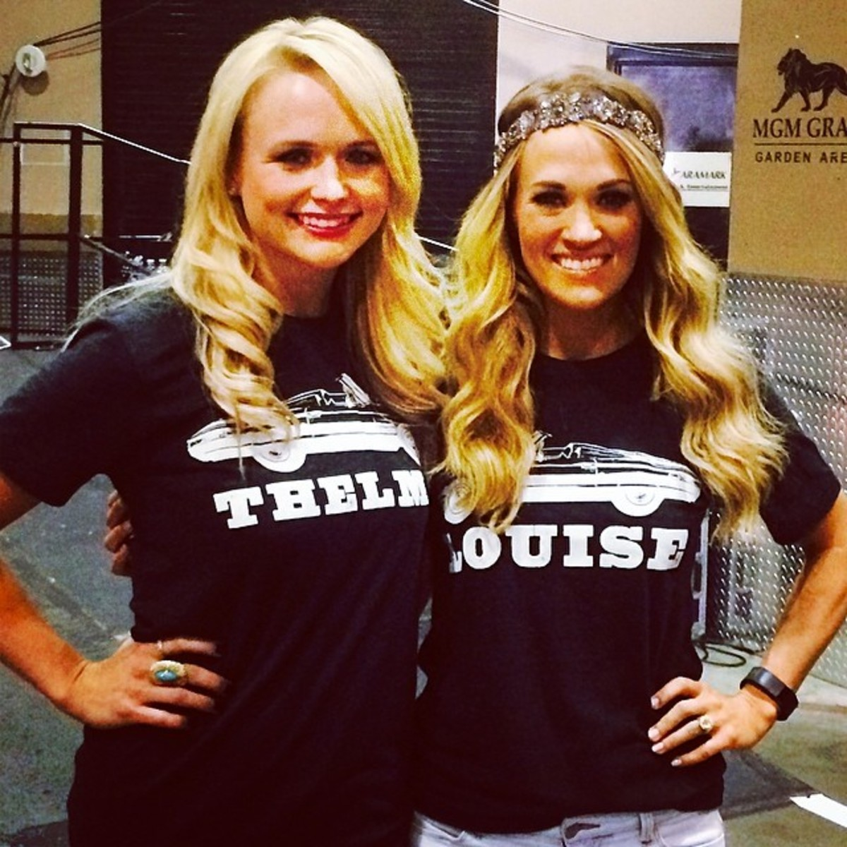 Carrie and Miranda as Thelma & Louise