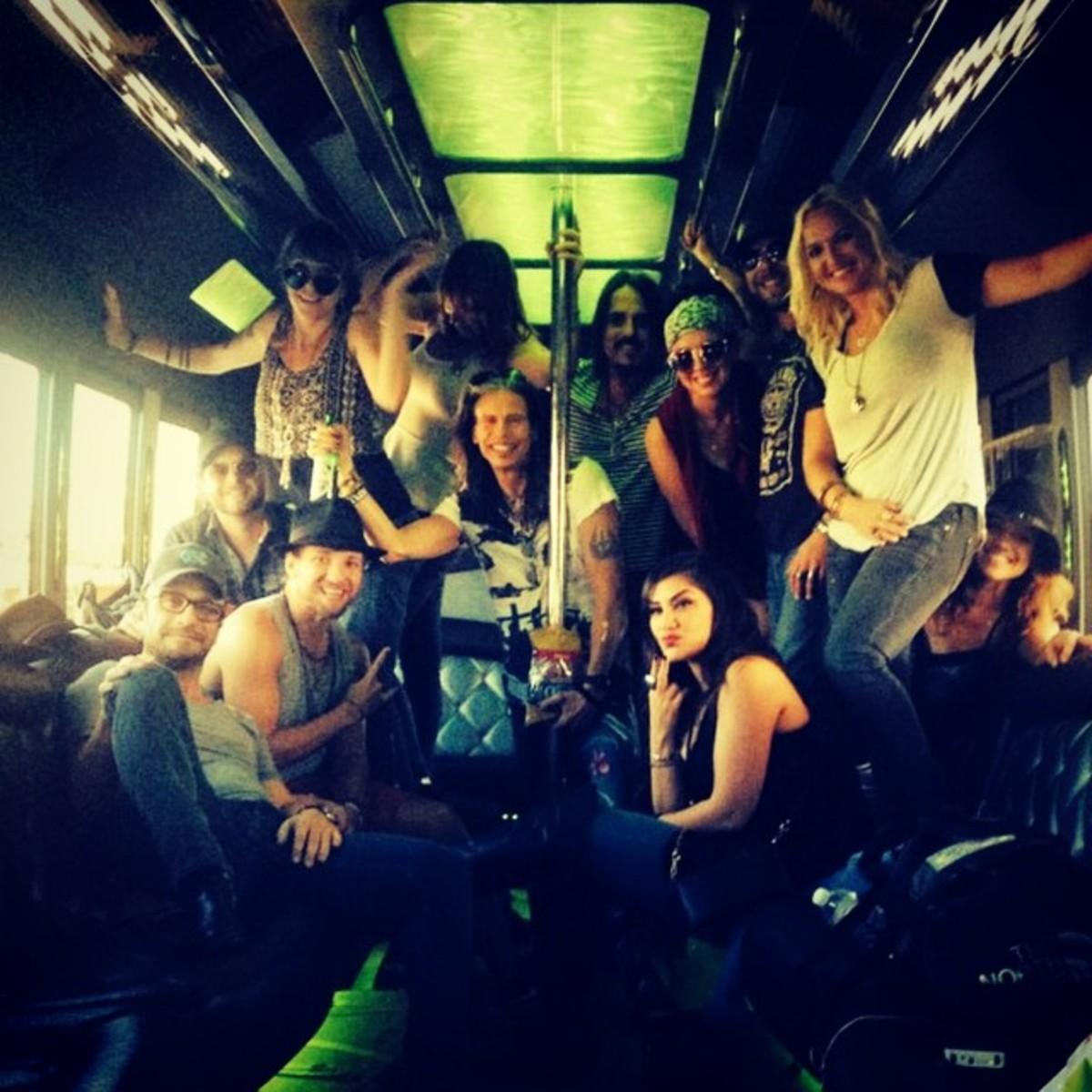 Aerosmith on the road