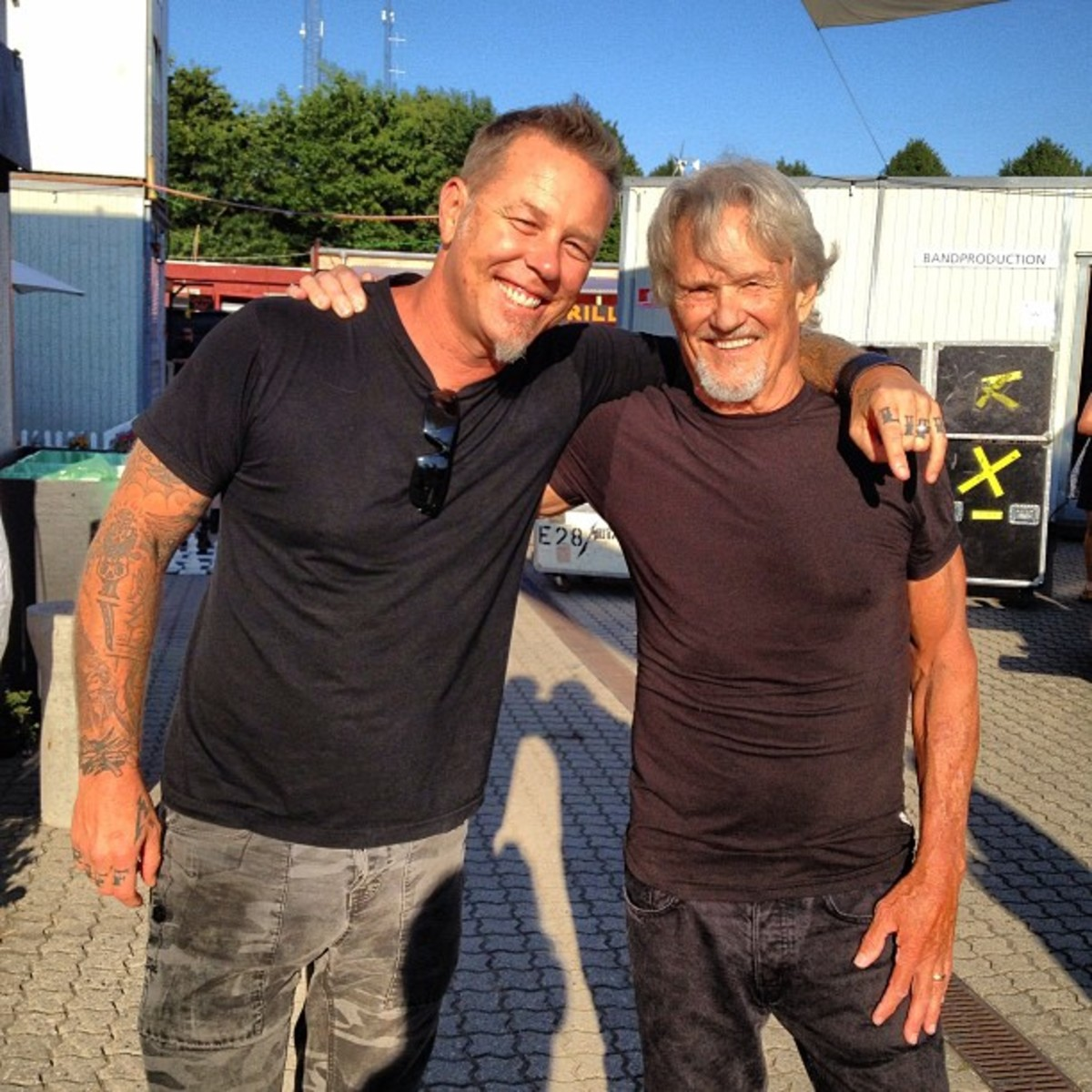 Two legends James Hetfield and Kris Kristofferson