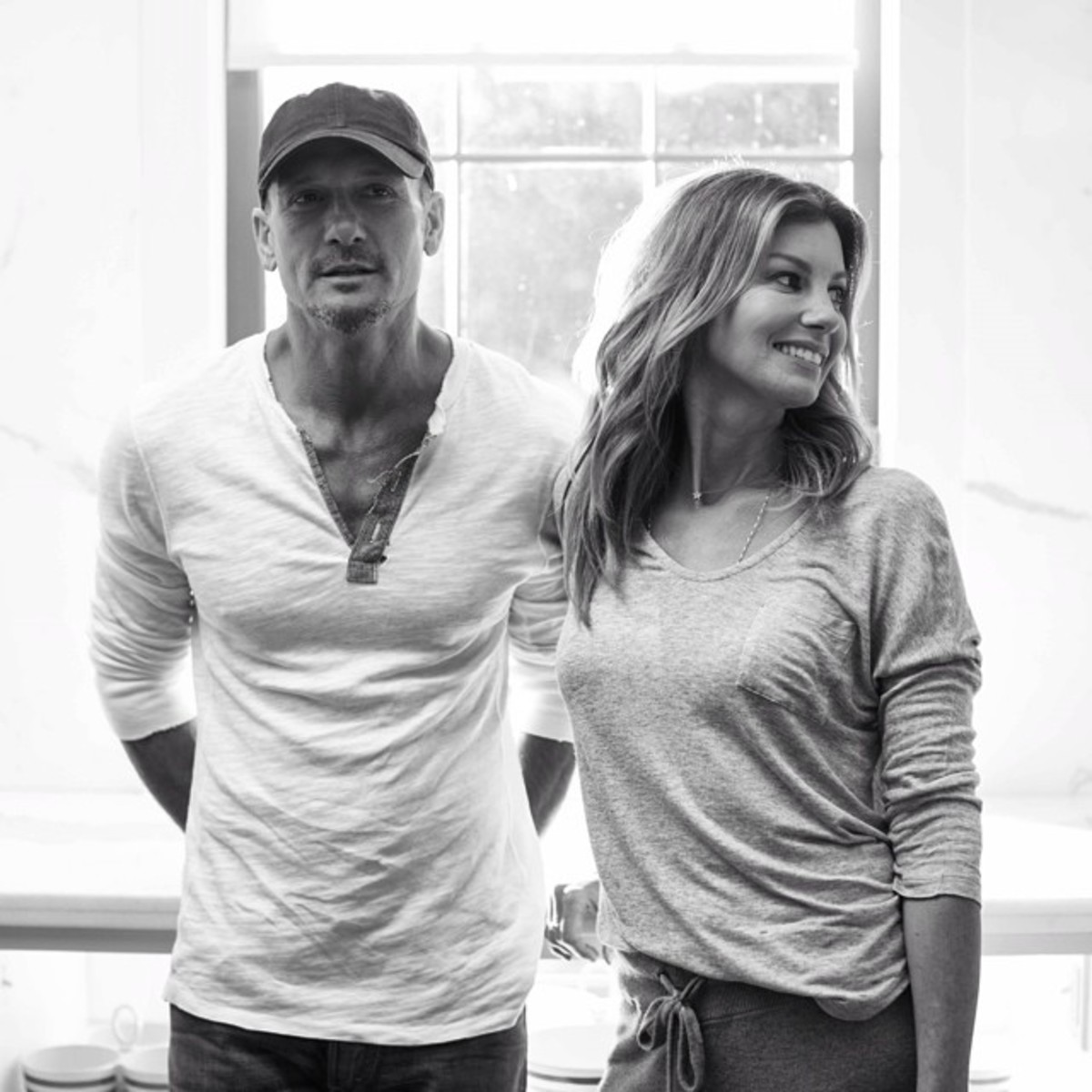 Tim and his beautiful wife, Faith Hill