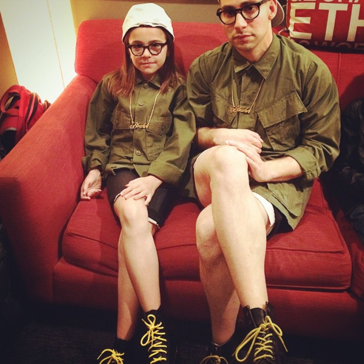 Jack Antonoff and young friend at Conan show