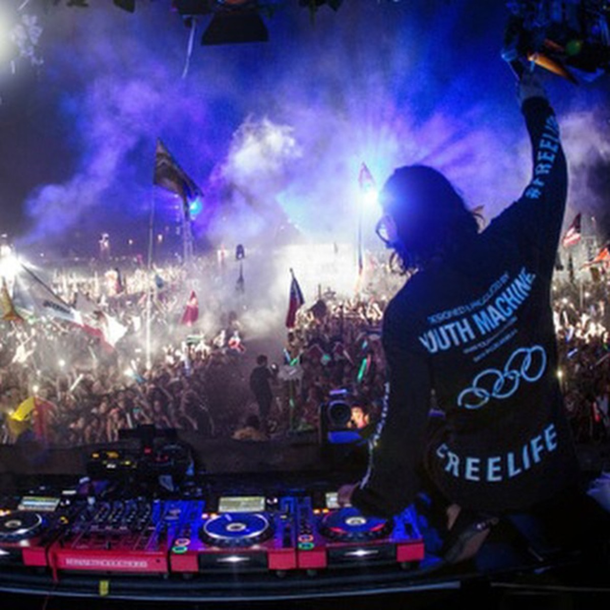 Skrillex's view from the stage