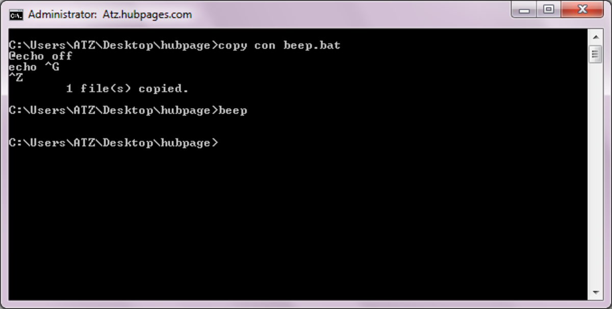 How to Make a CMD Beep Sound With Your CMD Program
