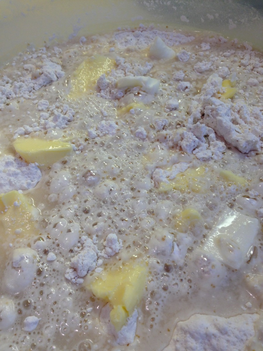 Adding the yeast will cause the mixture to bubble as it permeates the ingredients.
