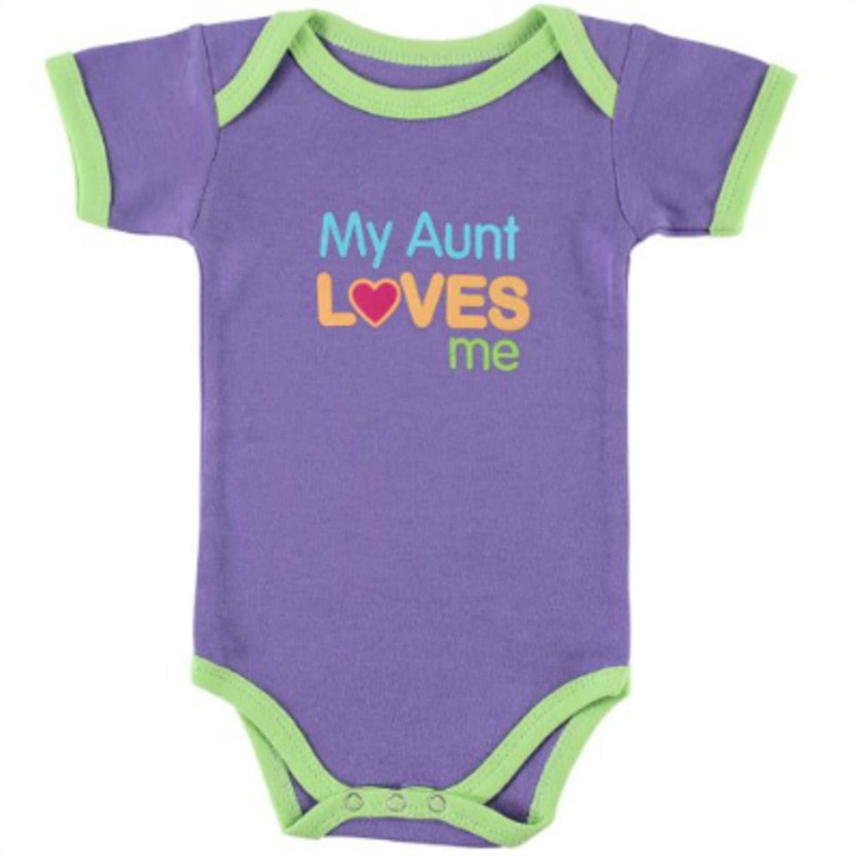 Baby Sayings Bodysuit - My Aunt Loves Me