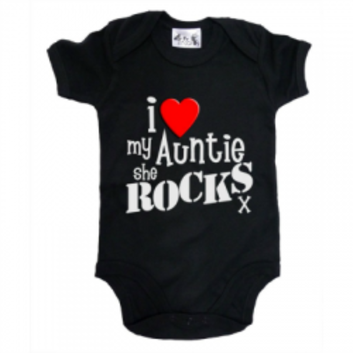 Image: I Love my AUNTIE Baby & Toddler Short Sleeve Bodysuit by Dirty Fingers - Available at Amazon