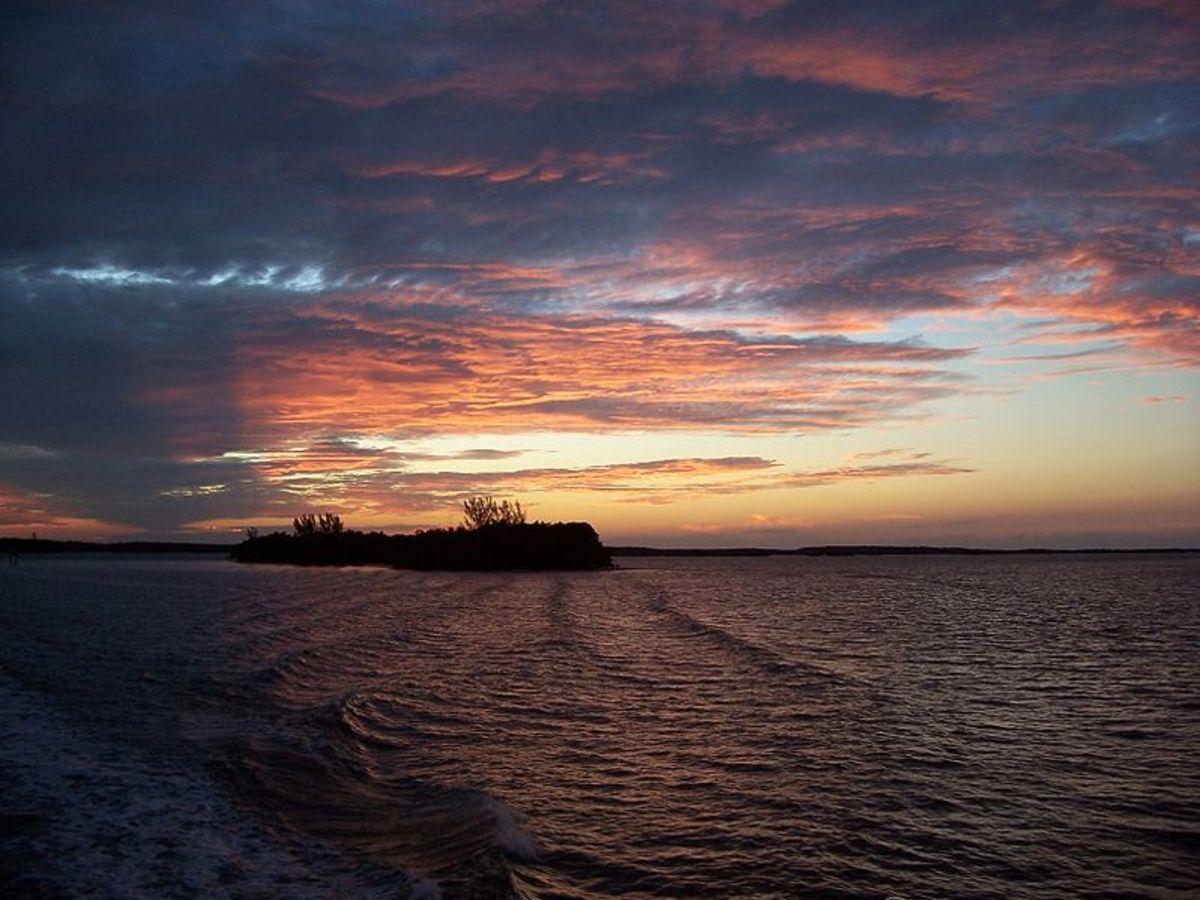 Sunset at  Biscayne National Park