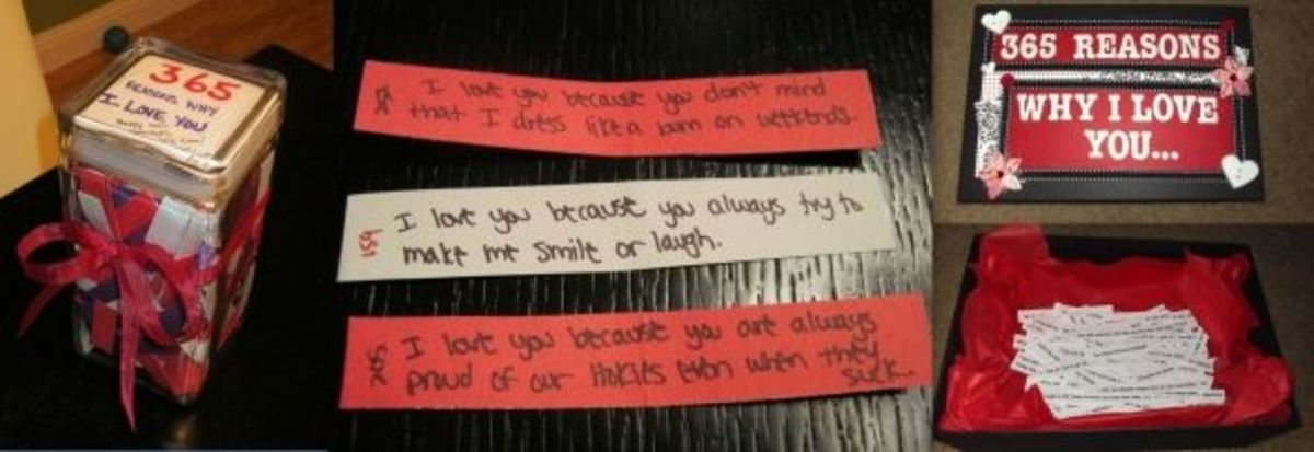 DIY Valentine's Gift for Him: 365 Reasons Why I Love You