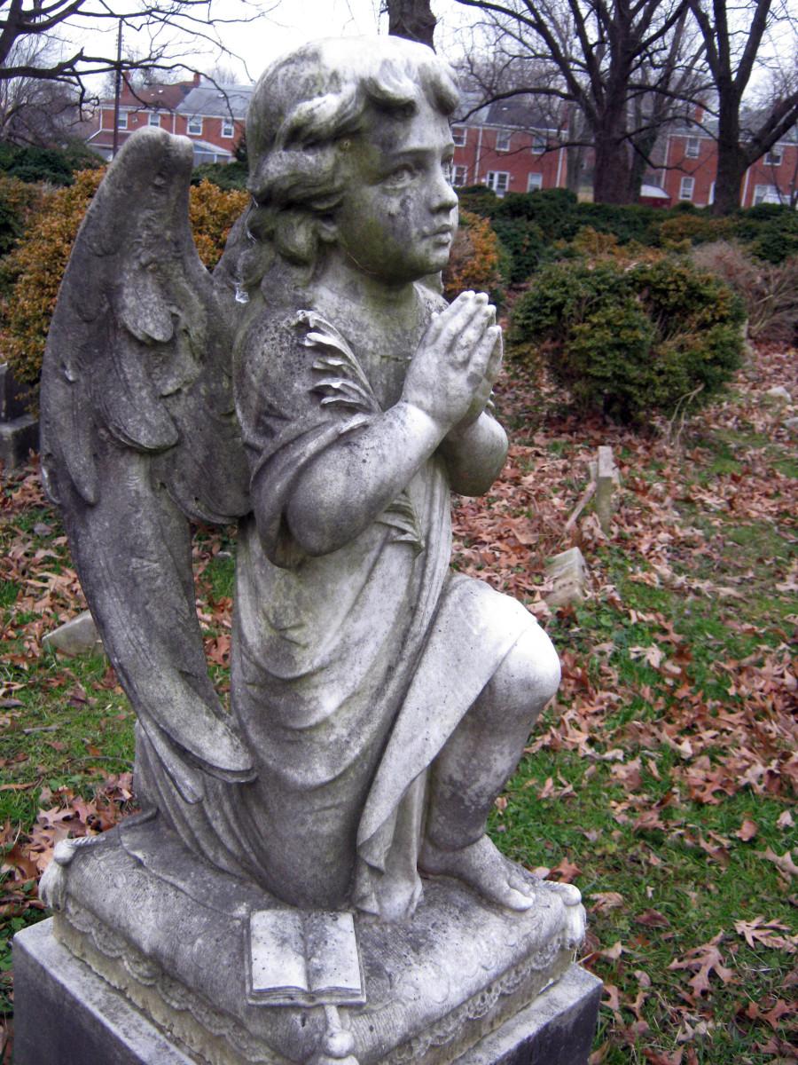 Is that a tear below the angel's eye?