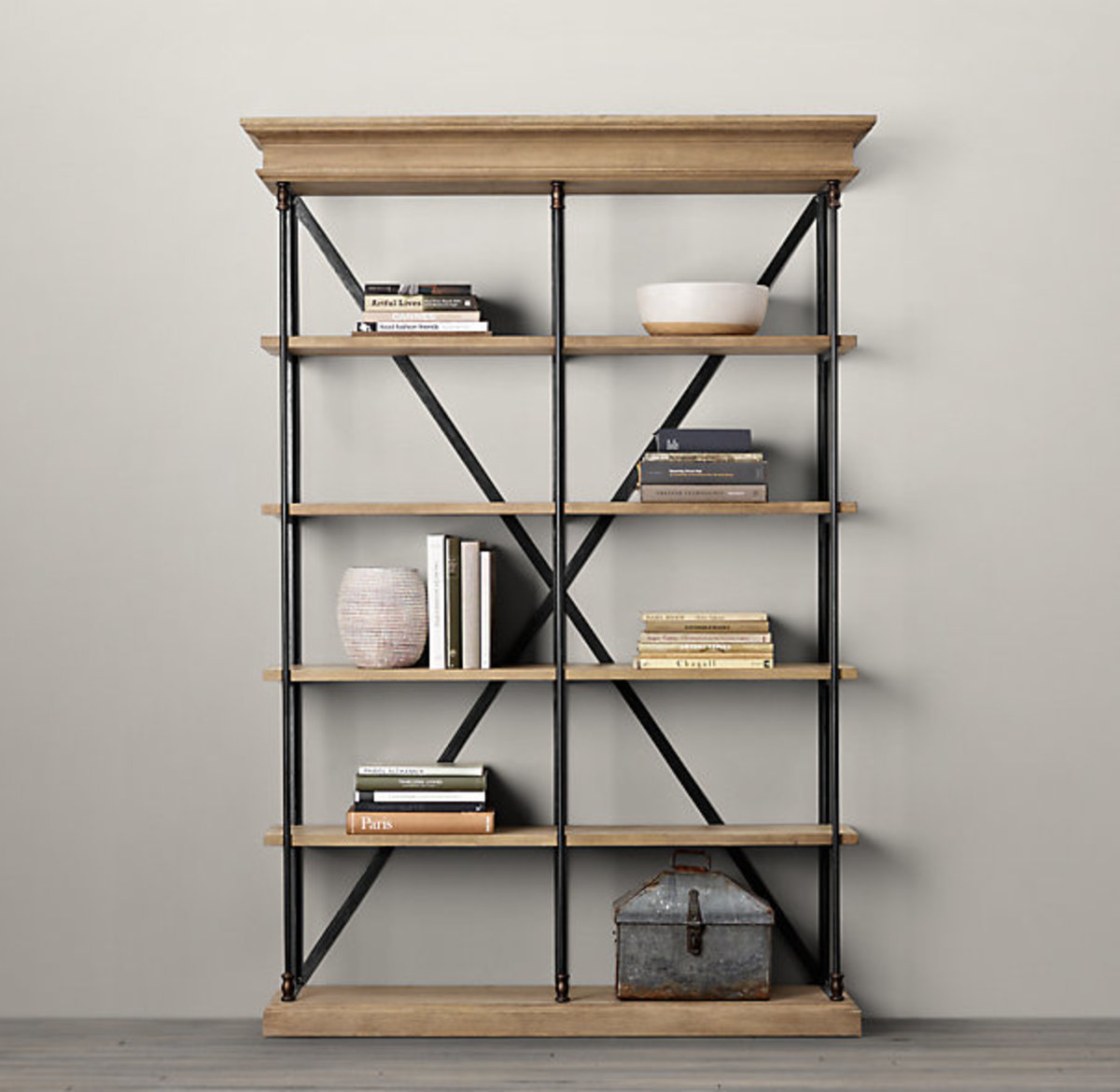RH Parisian Cornice bookshelf look alike
