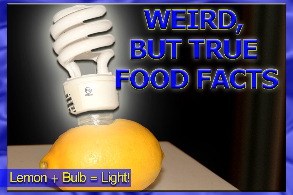 A lemon can power a light bulb!
