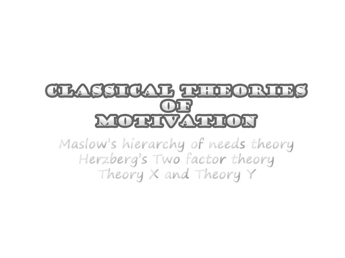 Classical Theories of Motivation