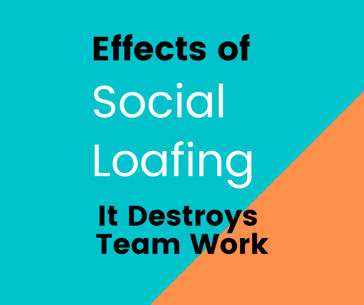 Social Loafing will have negative effect on a team.