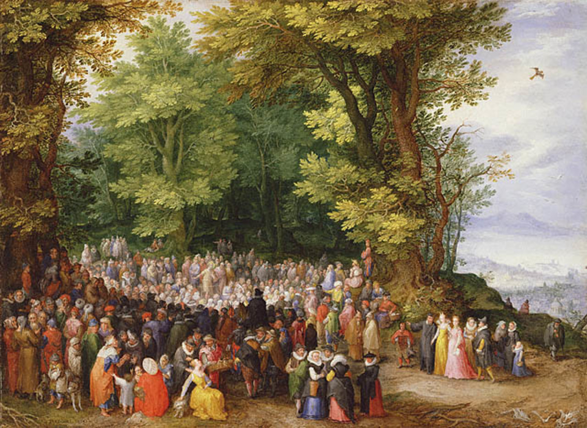 """Sermon on the Mount"" Painting by Jan Brueghel (1568-1625)"