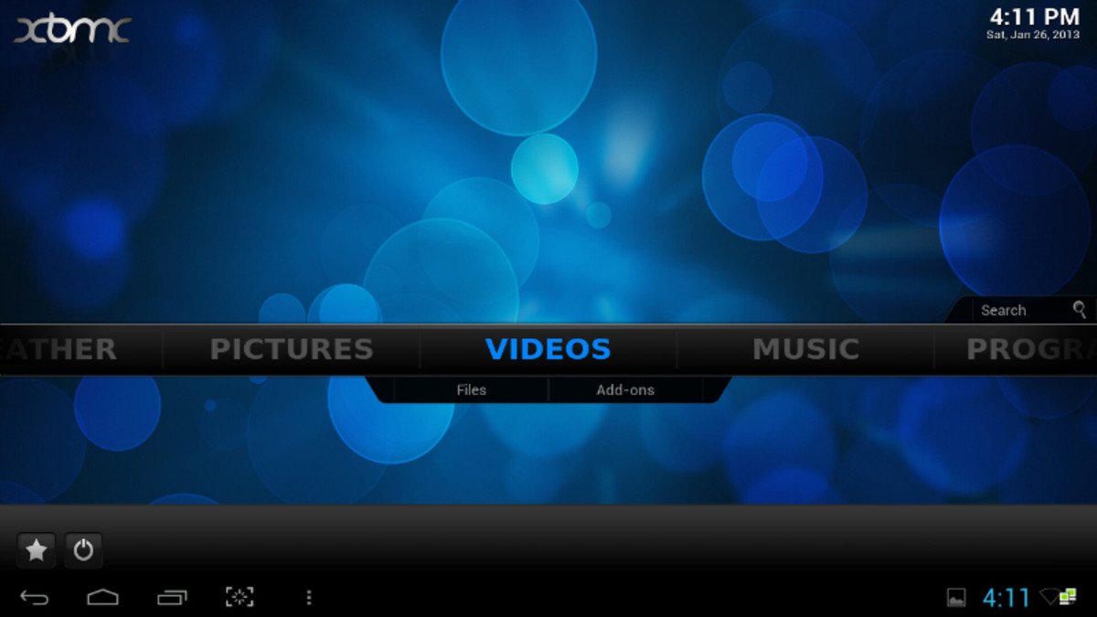 XBMC for Android runs on the Prometheus but unfortunately without hardware video decoding
