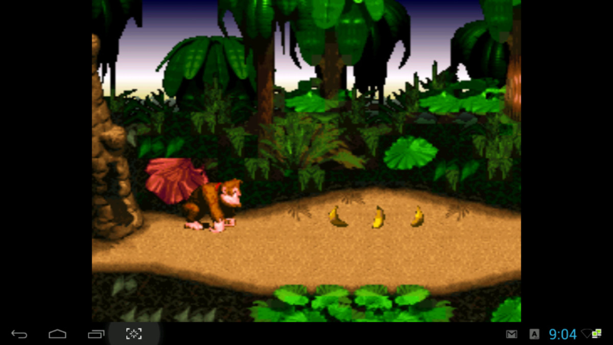 Donkey Kong Country for the SNES running on SNES9x emulator