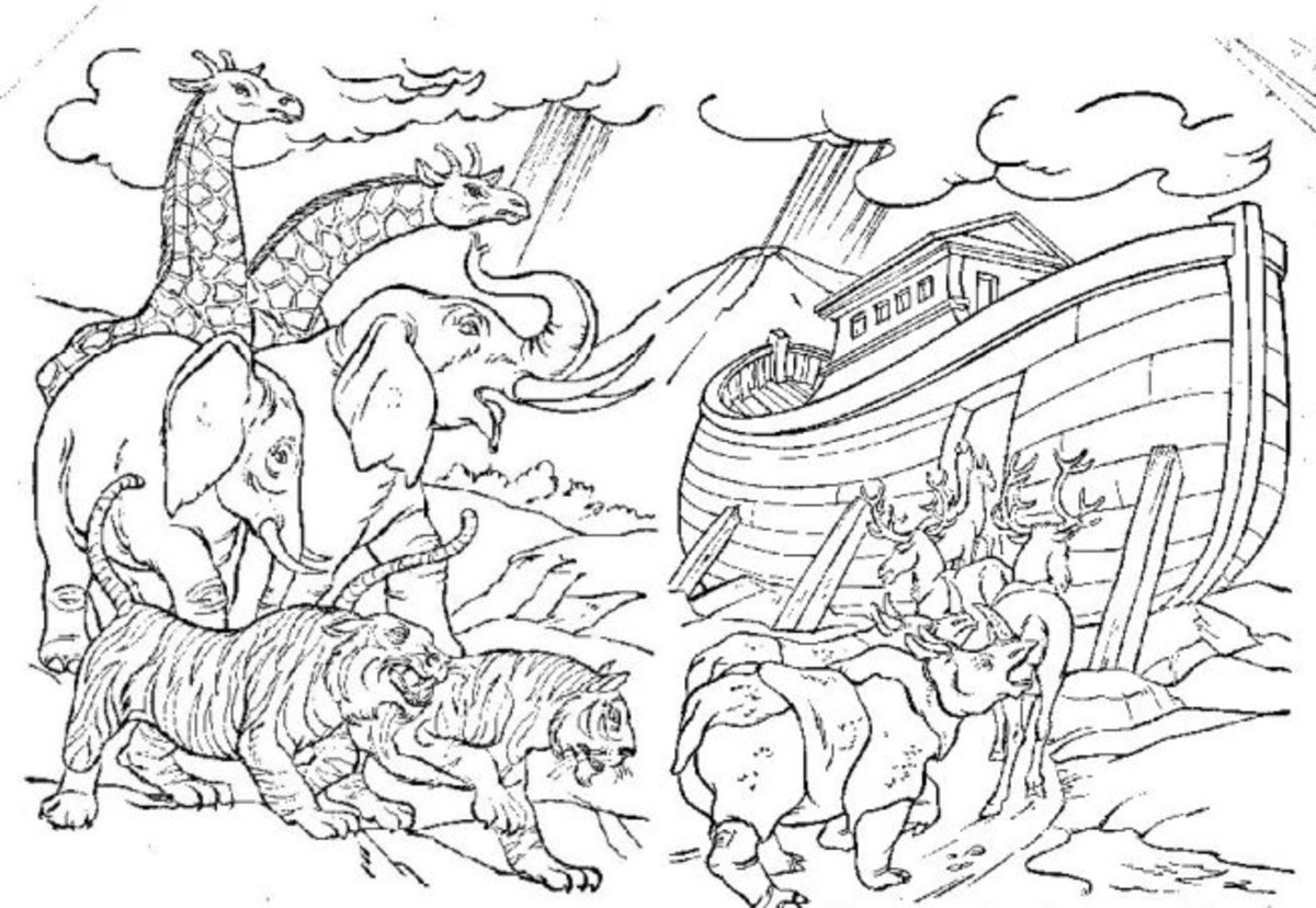 animals in the bible printable coloring pages this noahs ark - Noahs Ark Coloring Pages Print