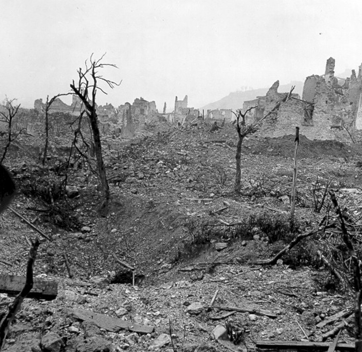 The stark landscape of Monte Cassino