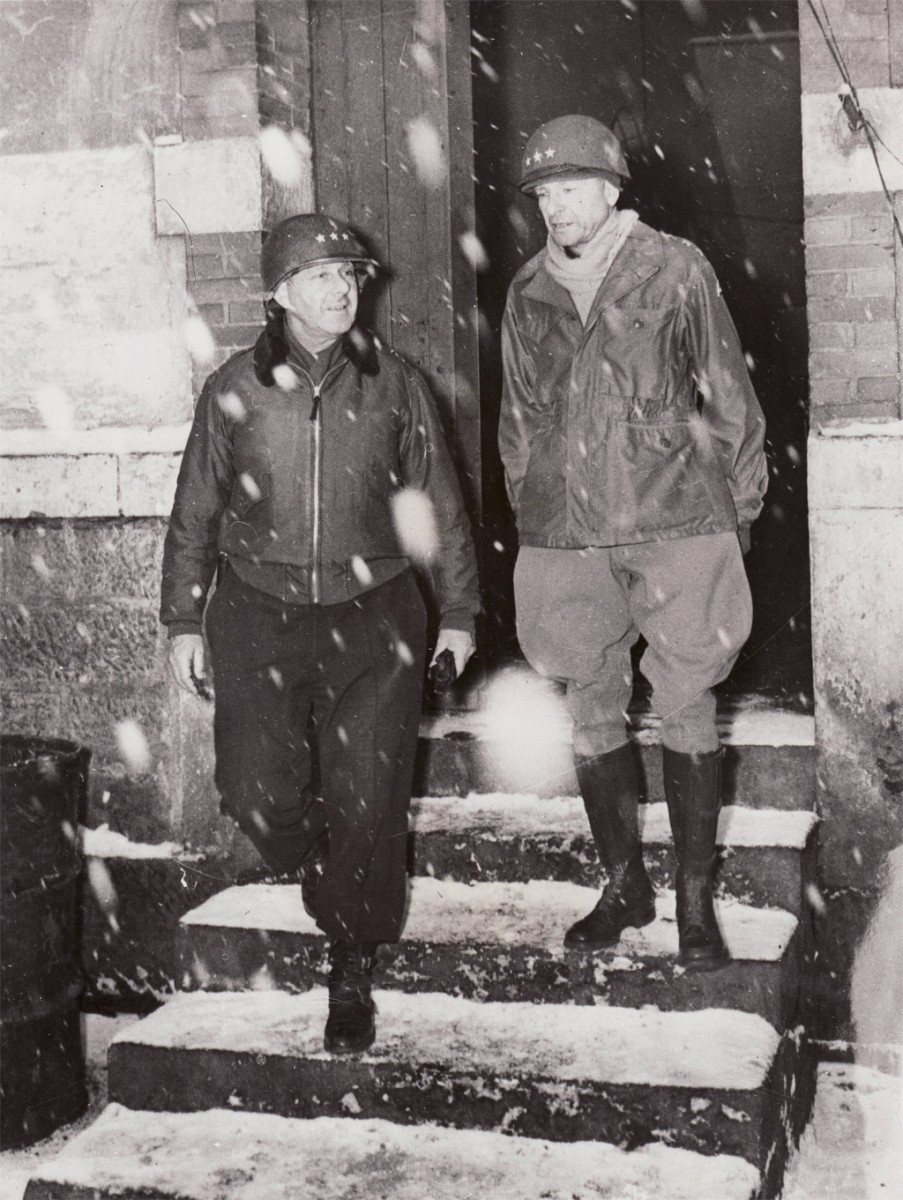 Dever and Patch, winter 1945.