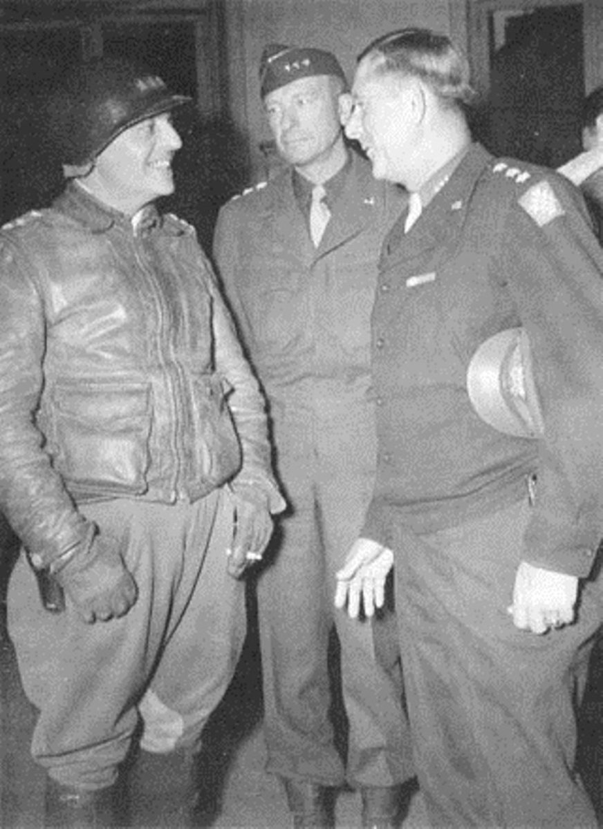 L-R: Truscott, Patch and Devers in late 1944.