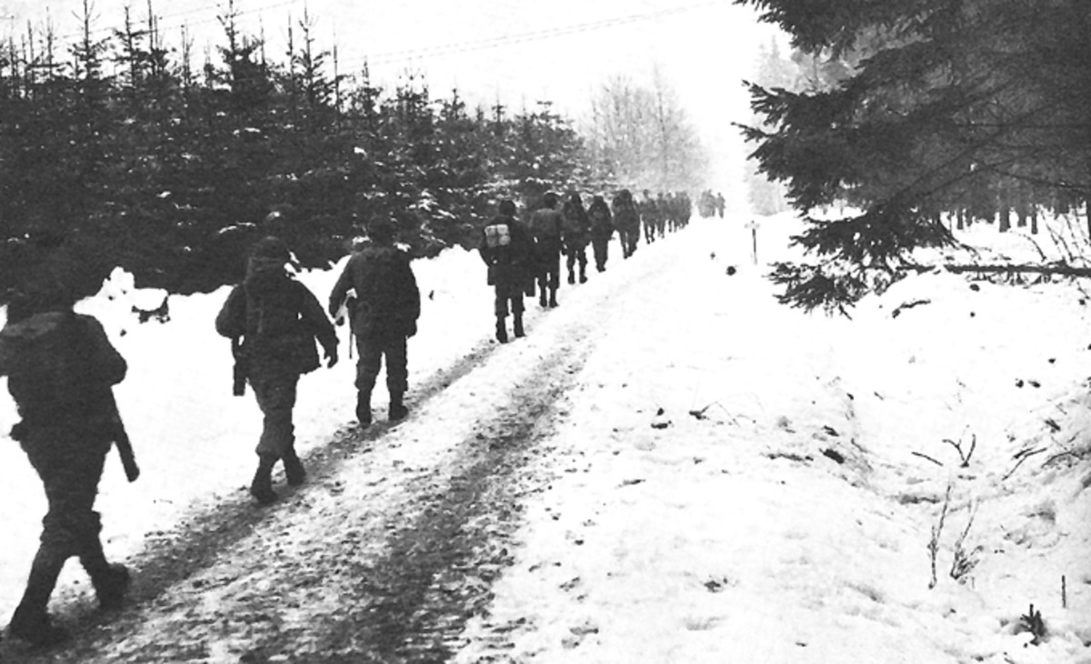 The Division on the move in the Ardennes
