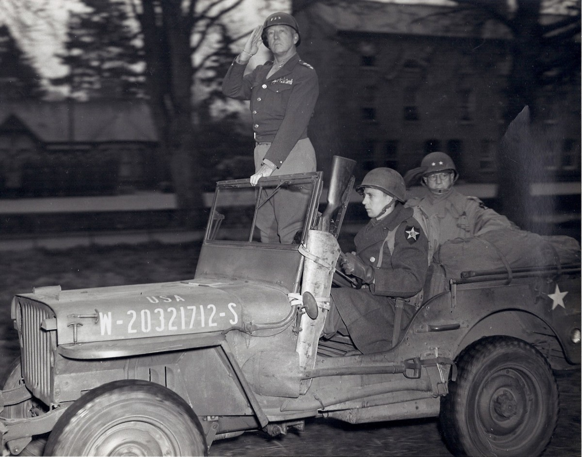 General Patton inspecting the 2nd Infantry Division with Robertson in the back. This photo perfectly illustrates how Robertson's understated nature contrasted with that of his more flamboyant contemporaries.