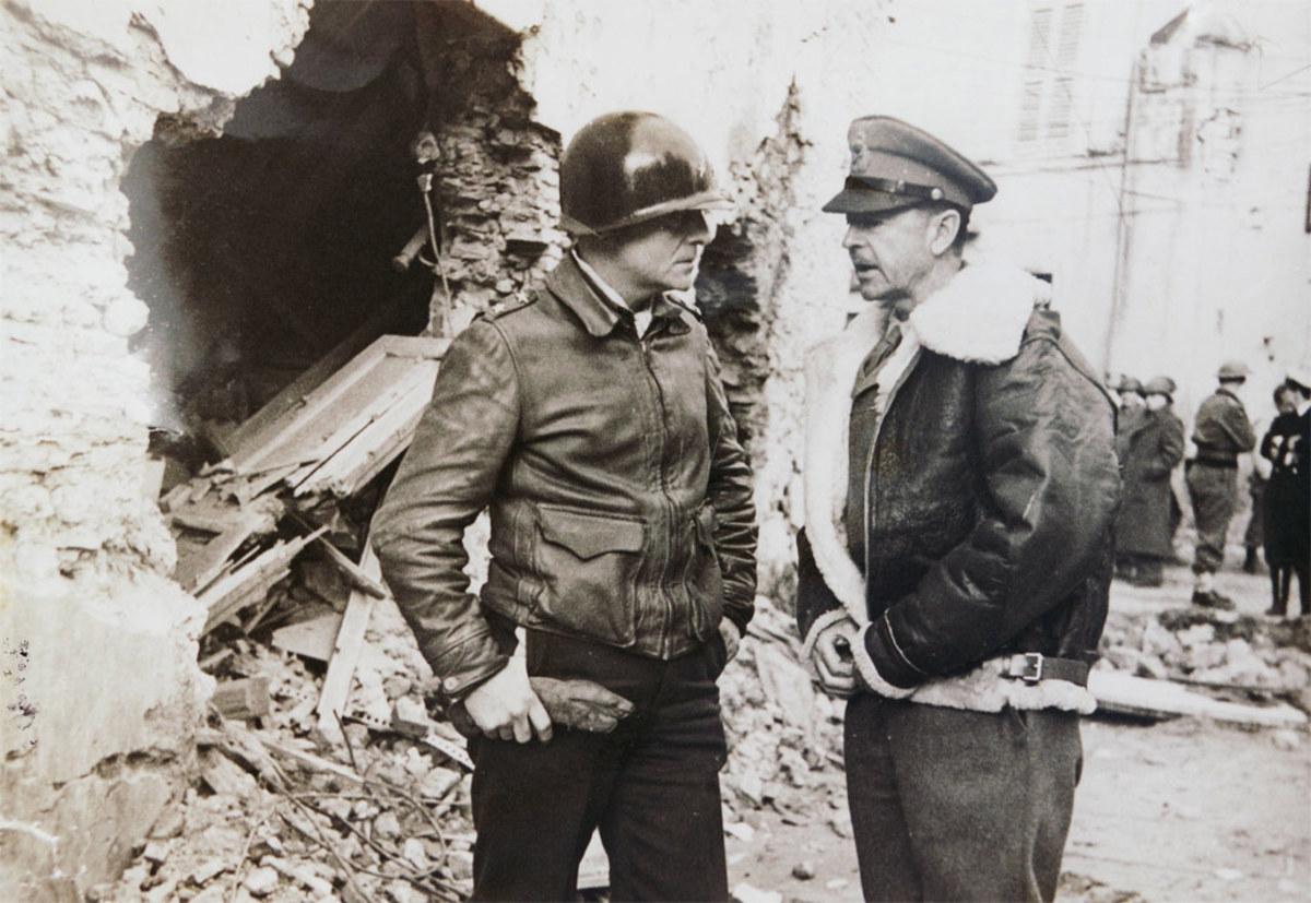 Truscott with British General Alexander