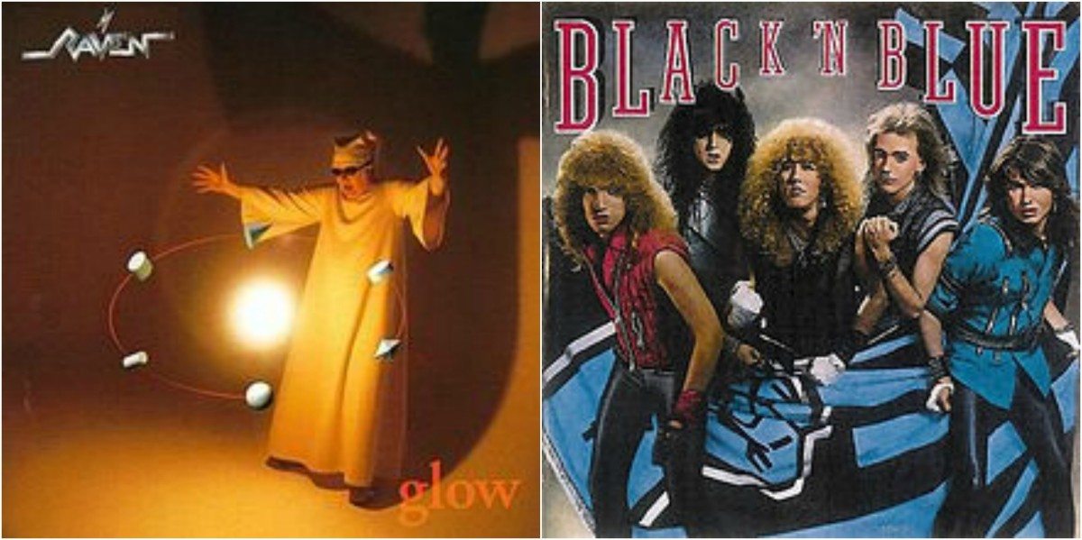 "Left: Raven, ""Glow,"" right: ""Black N Blue"""
