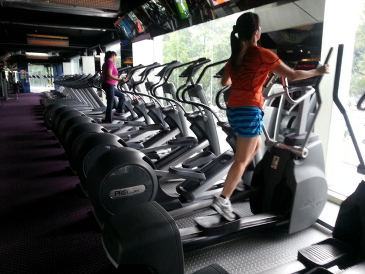 Elliptical machine that exercises both your lower and upper body is a better machine to work on.