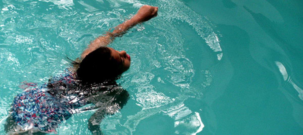 Swimming is a good low impact exercise and suitable for people with bad knee