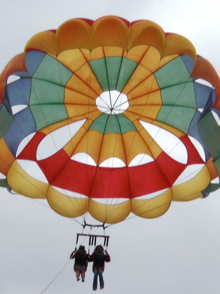 Parasailing in Port Aransas, Texas