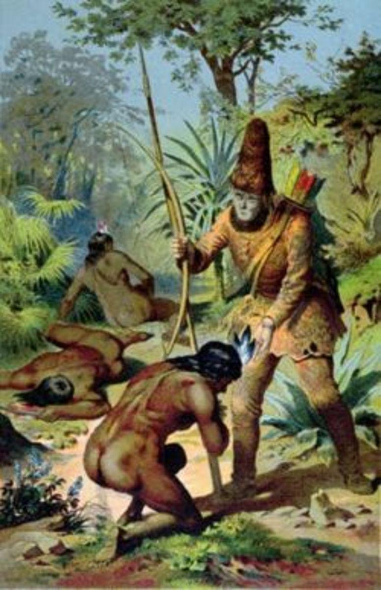 Robinson Crusoe meets Friday