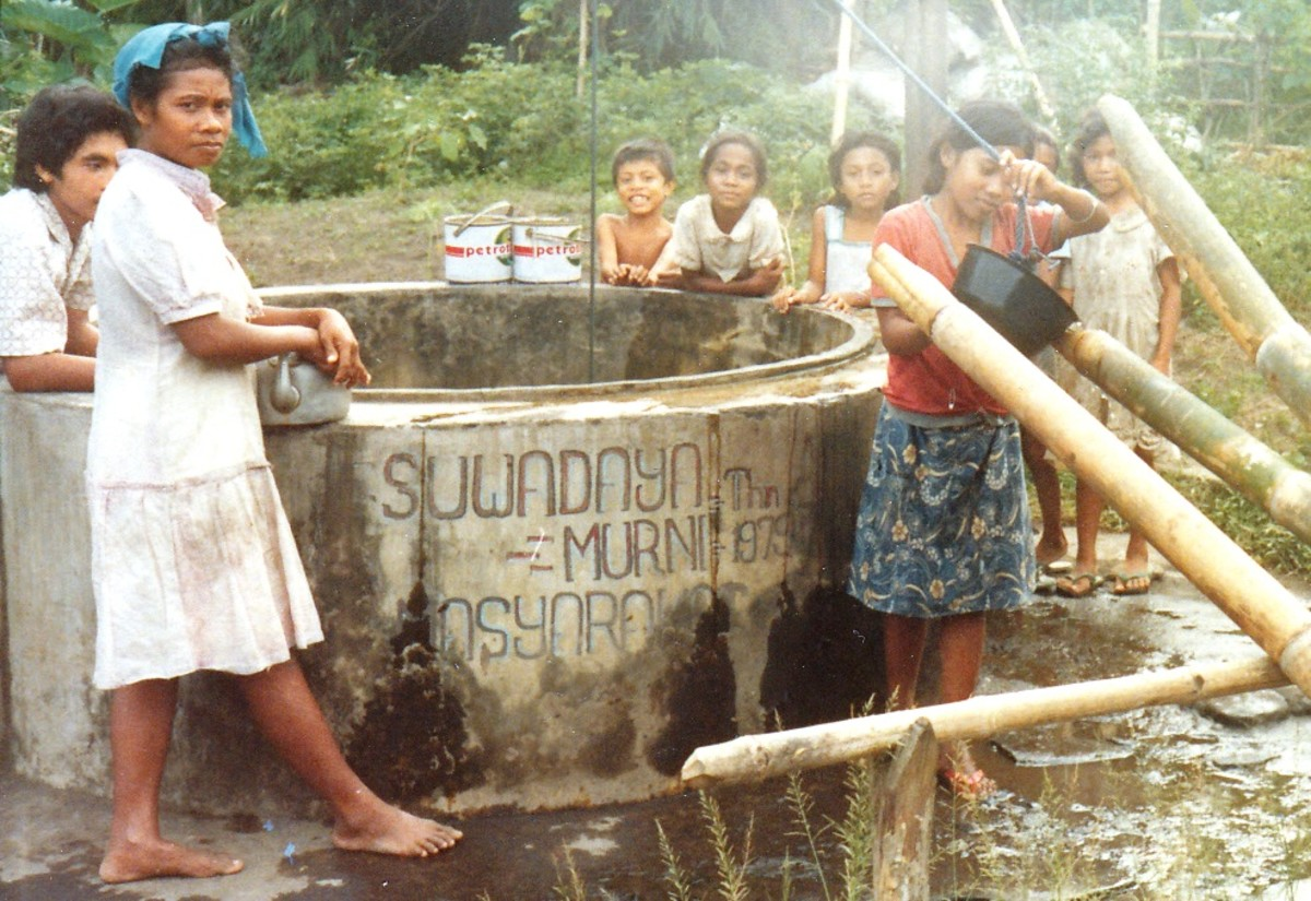 One of three wells in the village used by locals.